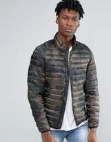 Pull&Bear Puffer Jacket In Camo