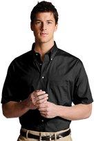 Edwards Garment Men's Big And Tall Button Down Poplin Shirt__4XLT