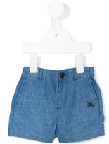 Burberry chambray shorts - kids - Cotton - 6 mth