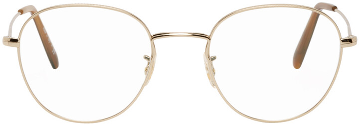 Thumbnail for your product : Oliver Peoples Gold Piercy Glasses
