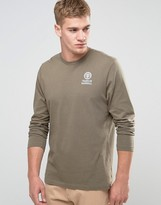 Franklin & Marshall Franklin And Marshall Crest Logo Long Sleeve T-shirt