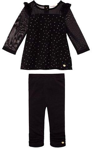 Juicy Couture Star Print Crepe Top Set