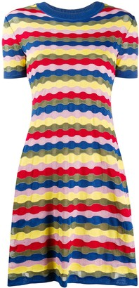 M Missoni wave-knit A-line mini dress
