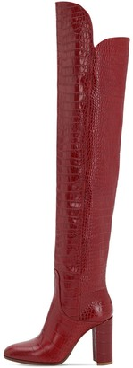 Strategia 90mm Lady Croc Embossed Leather Boots