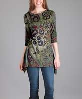 Lily Green Paisley Boatneck Tunic - Plus Too