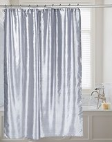 Carnation Home Fashions Water Repellent Shimmer Faux Silk Fabric Shower Curtain, 70-Inch by 72-Inch, Pewter