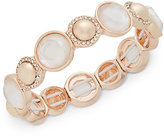 Charter Club Rose Gold-Tone Stone and Pavé Stretch Bracelet, Only at Macy's