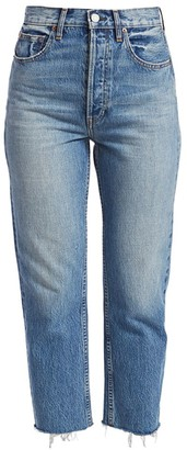 TRAVE Harper High-Rise Crop Straight-Leg Jeans