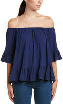 Glam Off-The-Shoulder Ruffle Top