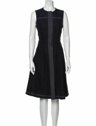 Oscar de la Renta 2017 Midi Length Dress Blue