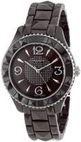 Akribos XXIV Women's AK533BR Ceramic Pyramid Cutting Stones Watch