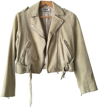 Acne Studios Ecru Leather Jackets