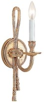 The Well Appointed House Crystorama Ornate Single Light Cast Brass Wall Sconce