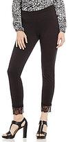 MICHAEL Michael Kors Ponte Knit Lace Cuff Crop Legging