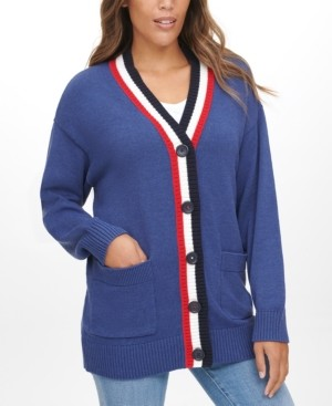 Tommy Jeans Flag-Back Cardigan Sweater