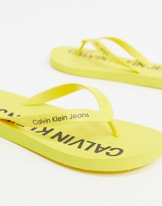 Calvin Klein Jeans Errol logo flip flops