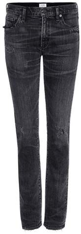 Citizens of Humanity Exclusive to mytheresa.com – Agnes Mid-rise Slim Straight distressed jeans