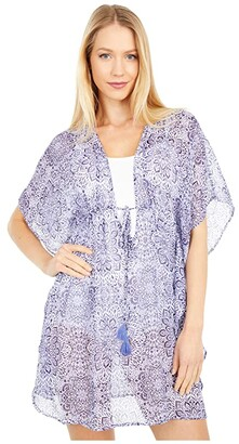 Jessica Simpson Sweet Sunday Border Cover-Up (Nile Multi) Women's Swimwear