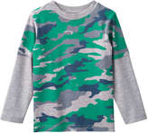 Joe Fresh Toddler Boys' Camo Print Fooler Tee, Light Grey Mix (Size 4)
