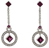 Kwiat Garnet & Diamond Drop Earrings