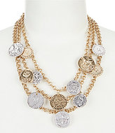 Southern Living Garth Coin Multi-Strand Statement Necklace