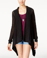 Roxy Juniors' Hollow Love Hooded High-Low Cardigan