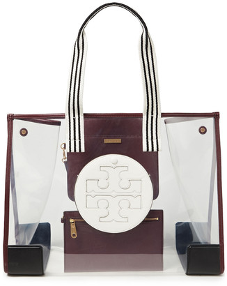 Tory Burch Ella Faux Leather And Pvc Tote