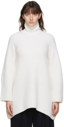 The Row Off-White Wool Azura Turtleneck