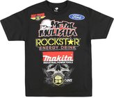 Metal Mulisha Men's Deegan-Pit 2 Graphic T-Shirt-L