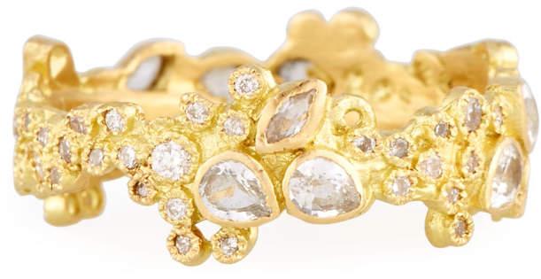 Armenta Sueño 18k Cluster Diamond Stack Ring, Size 7
