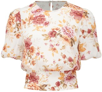 Ever New Katie Ditsy Puff Sleeve Top