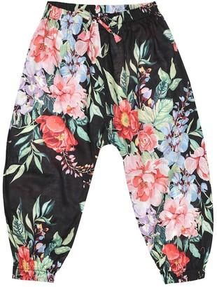 Zimmermann Kids Bellitude floral cotton pants