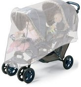 Jolly Jumper Double Stroller Insect - Bug Net Fits Side By Side or Tandem Strollers by