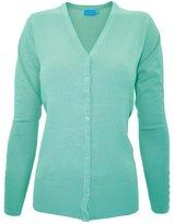 Time Story Ever77 Women's V Neck Regular Fit Long Sleeve Sweater Cardigan/USA/TJ1023/CI-,L
