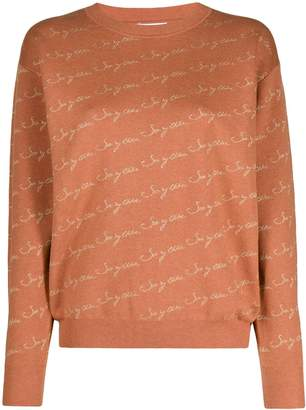 See by Chloe logo-print crew-neck pullover