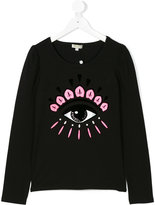 Kenzo eye print long sleeved T-shirt - kids - Cotton/Spandex/Elastane - 14 yrs