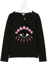 Kenzo eye print long sleeved T-shirt
