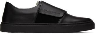 Issey Miyake Black Strap Sneakers