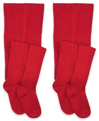 Jefferies Socks Girls Uniform Tights 2-Pack, Sizes XS-L
