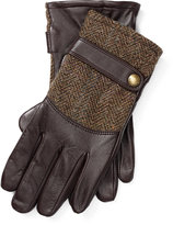 Ralph Lauren Tweed-leather Gloves