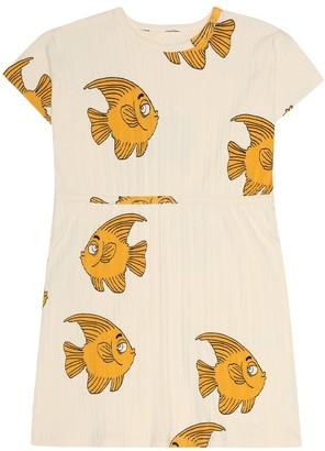 Mini Rodini Fish stretch-jersey dress
