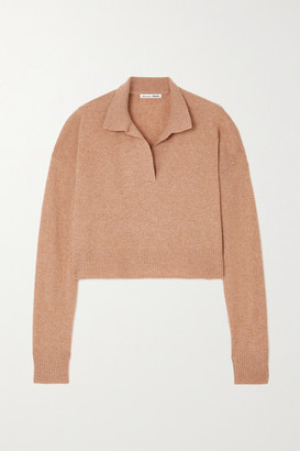 Reformation Cropped Cashmere Sweater - Camel