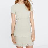 Maje Smocked cotton dress with fringes
