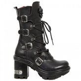 New Rock Womens M Neotyre05-S Gothic Leather Boots 37 EU