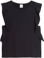 Iris and Ink Ruffle-trimmed stretch-jersey top