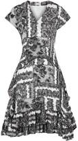 By Malene Birger Balaka lace-print georgette mini dress