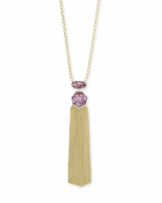 Kendra Scott Tae Long Pendant Necklace for Women Fashion Jewelry Rhodium-Plated