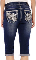 LOVE NATION ZCO Bling Wings Cropped Jeans - Petite