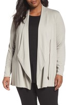 Nic+Zoe Plus Size Women's Studio Asymmetrical Zip Jacket