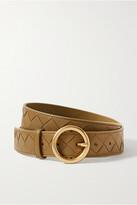 Thumbnail for your product : Bottega Veneta Intrecciato Leather Belt - Green